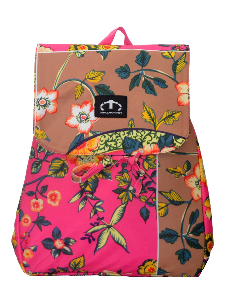 MULTI COLORED FLORAL MINI BACKPACK