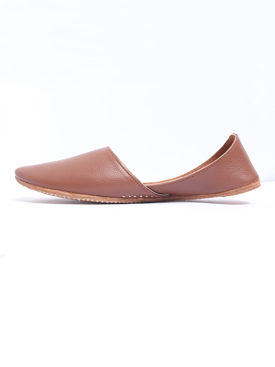 Brown Pure Leather Khussa