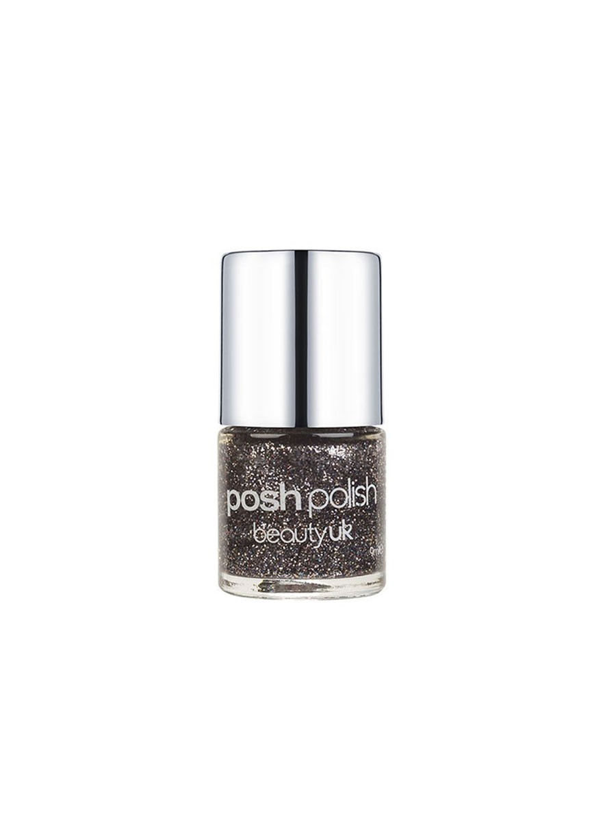 BUK POSH POLISH 14 COMET S TAIL (BLACK GLITTER)
