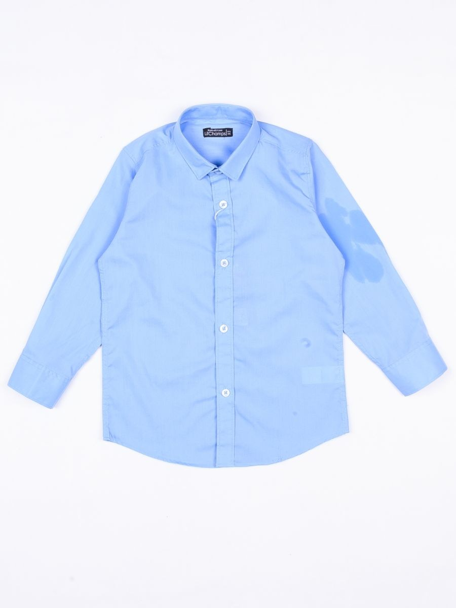 Lil Champs Plain Dress Shirt