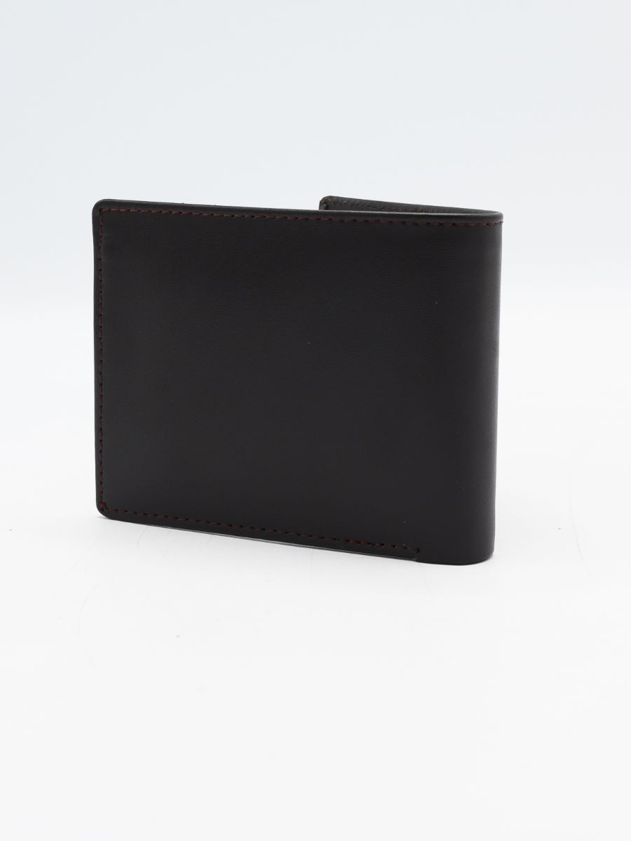 Black Cow Leather Wallet for Men