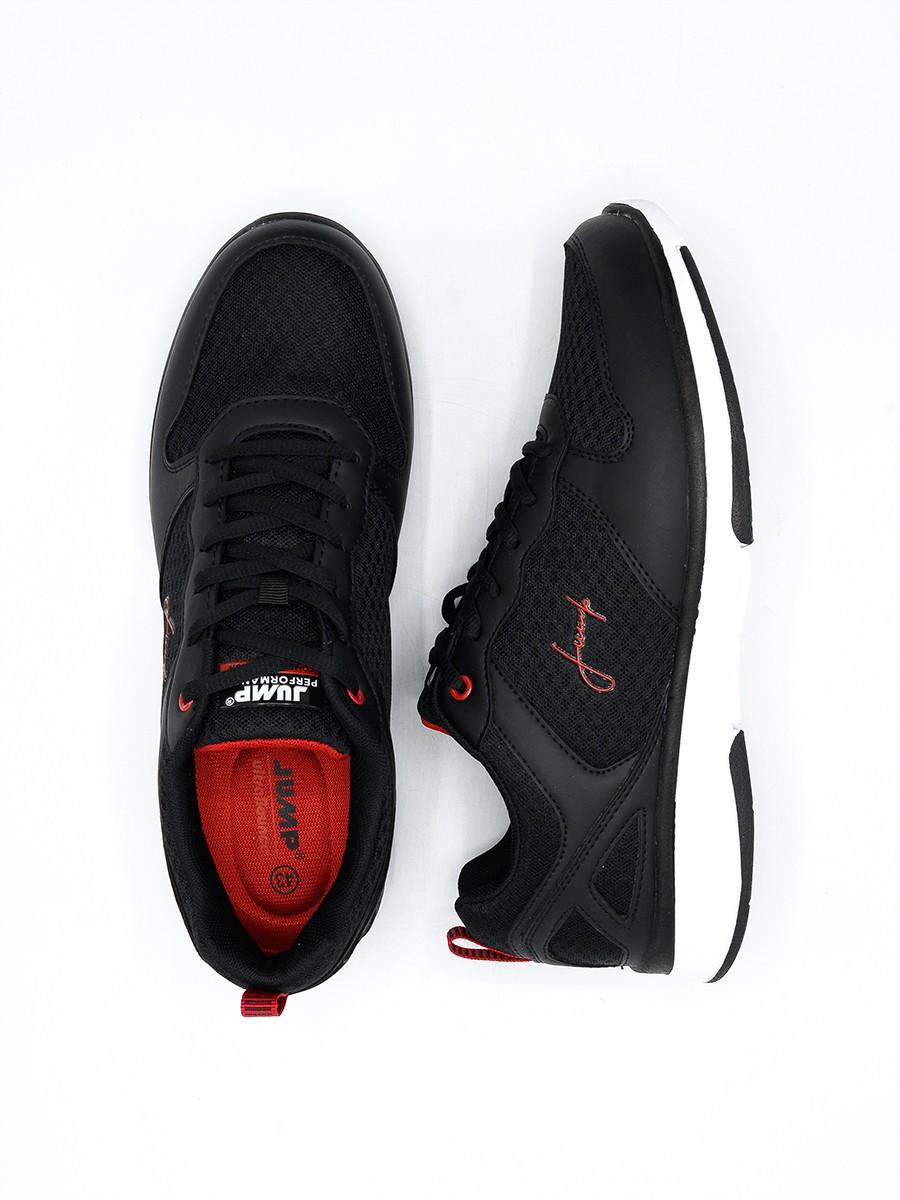 MEN'S RUNNING SHOE Black-DK-RED