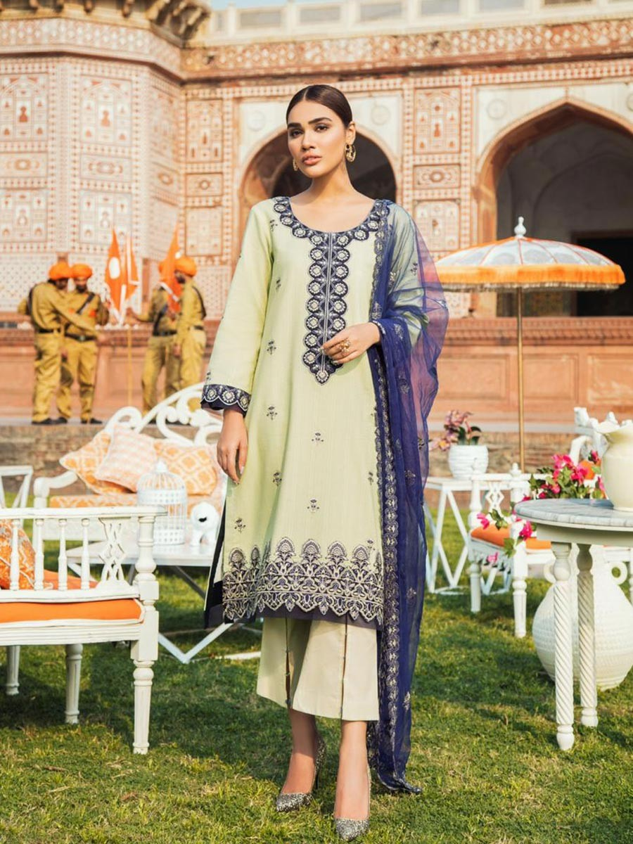 Kaasni by PanacheEmbroidered Tarkashi Lawn Unstitched 3 Piece Suit.
