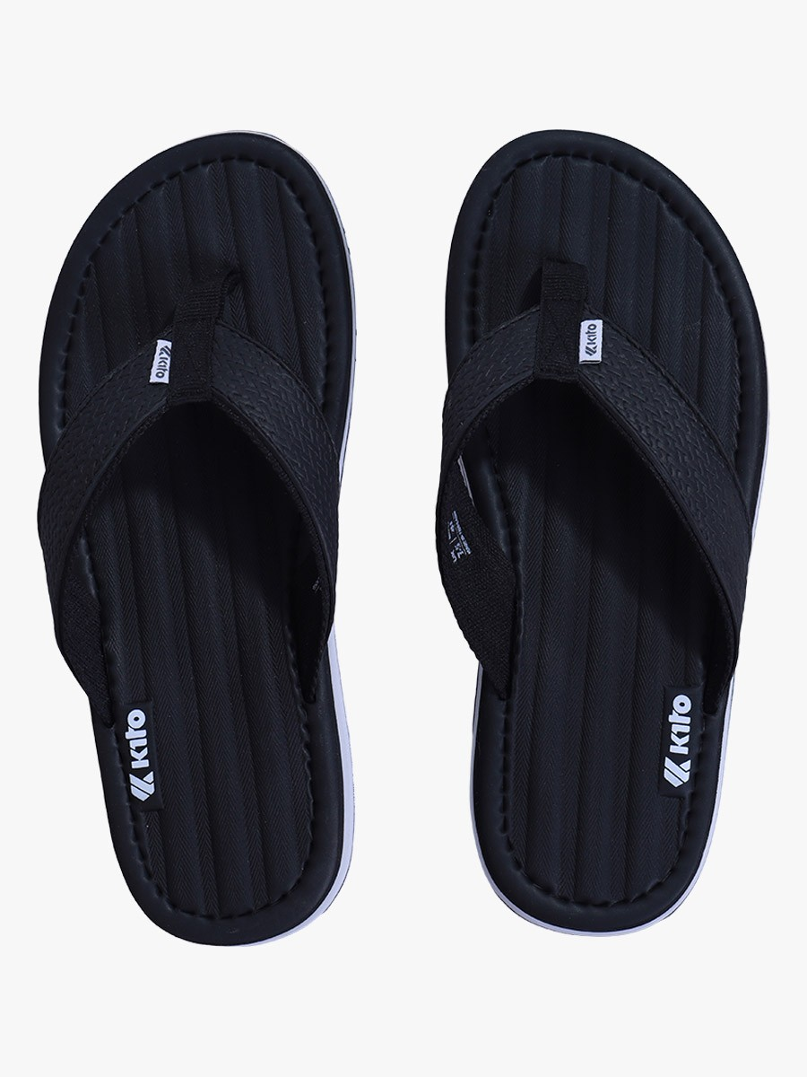 Black Kito Flip Flop for Men - AA6M