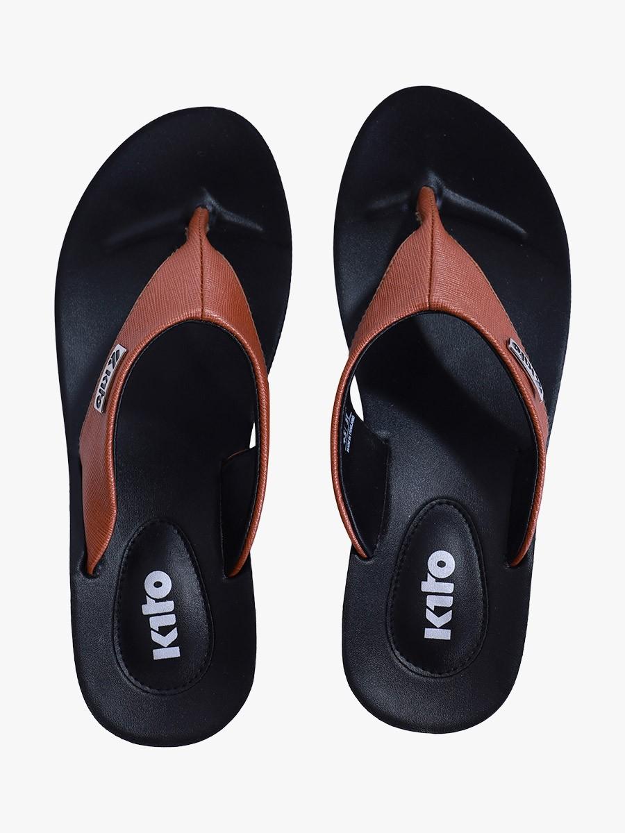 Tan Kito Chappal for Women - UW7070