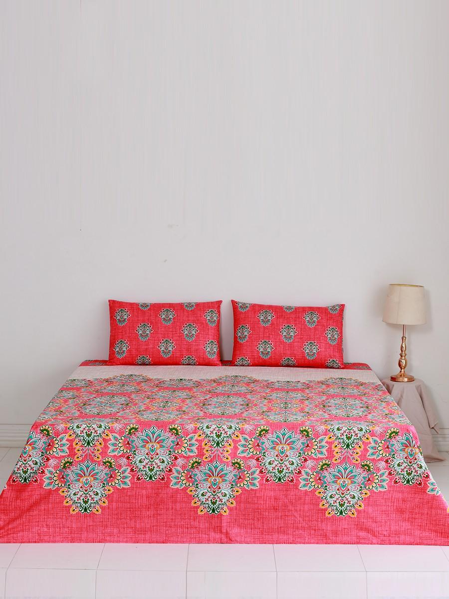 Vigne Peche Bed Sheet
