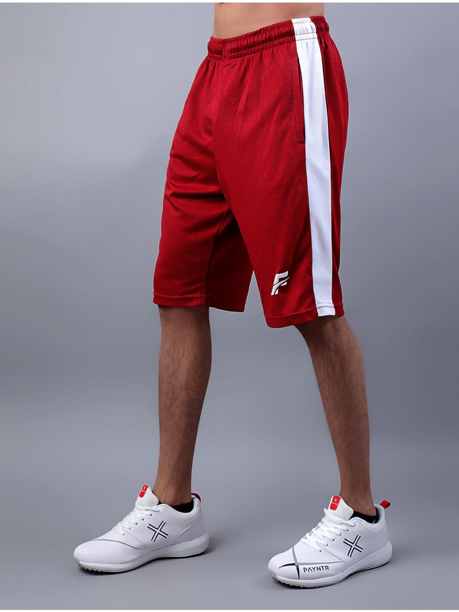 Red/White Active Fit Men's Shorts