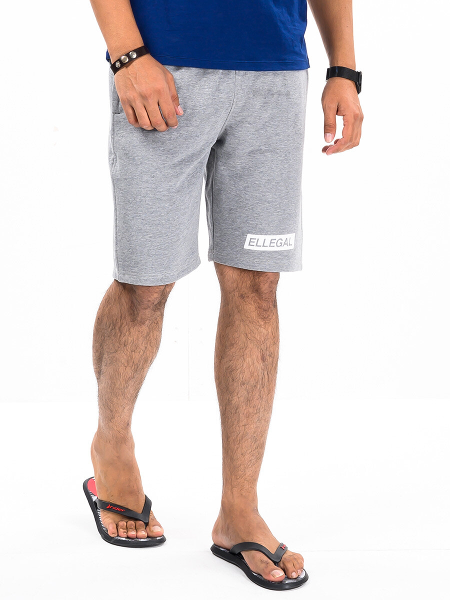 """Epic Terry Knit  Jogger Shorts 10"""" Heather Grey"""
