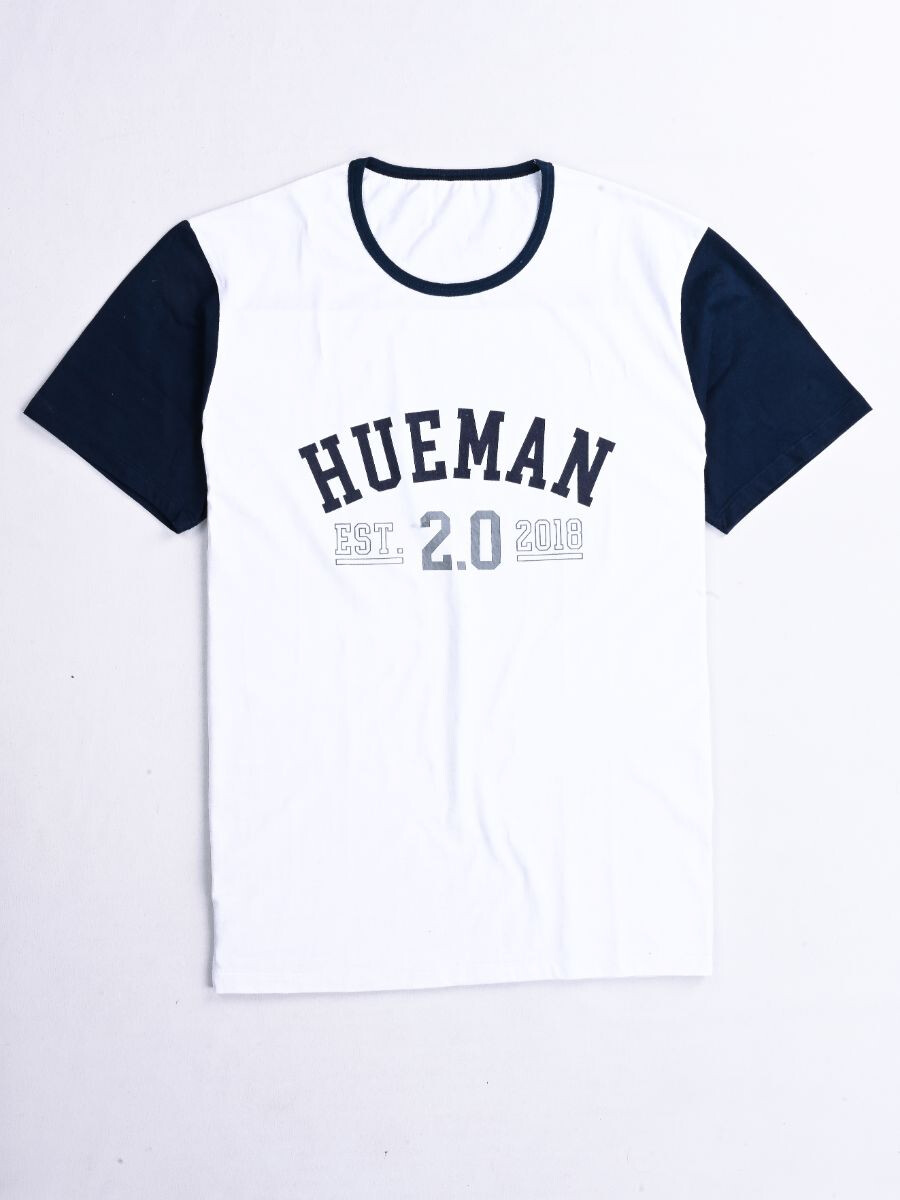 2.0 White Custom Fit Contrast Tee