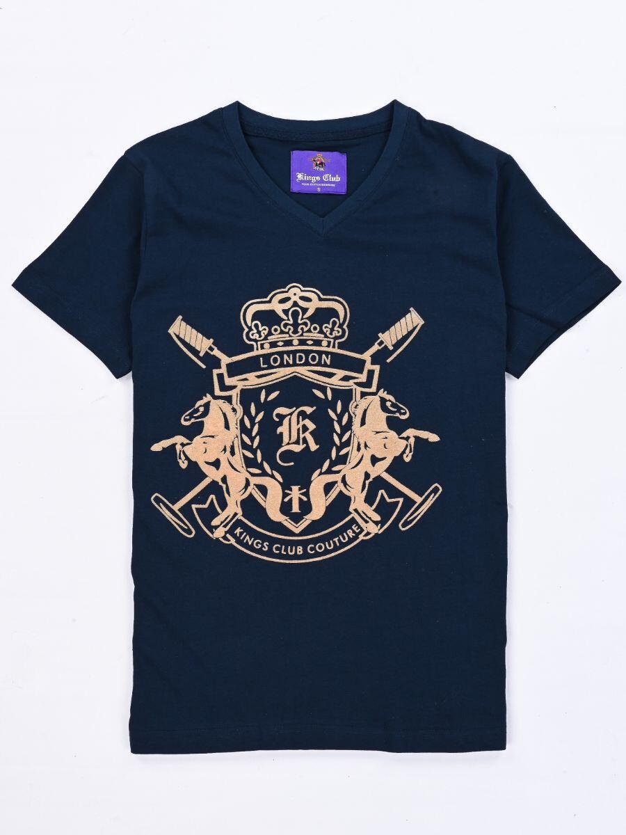 KINGS CLUB COUTURE LONDON V NECK T SHIRT