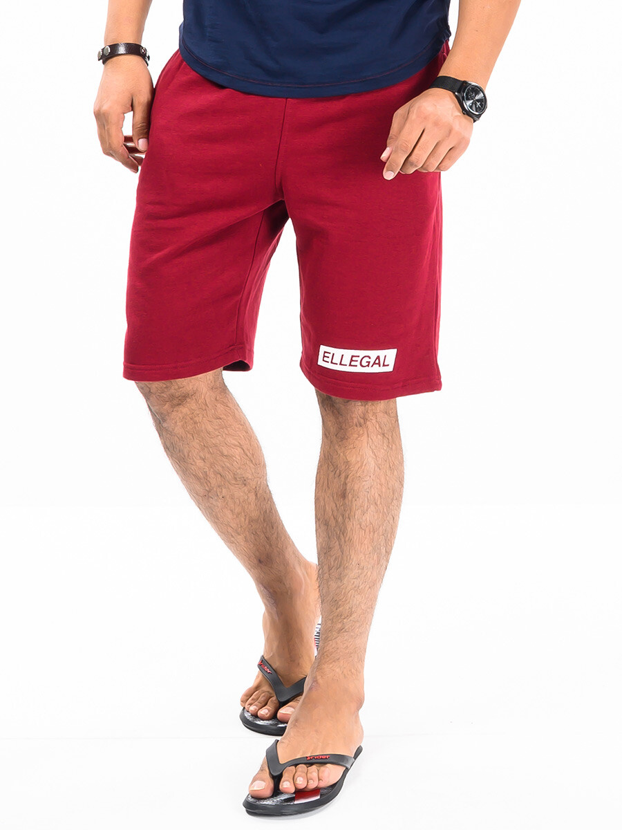 Epic Terry Knit Jogger Shorts 10 Burgundy