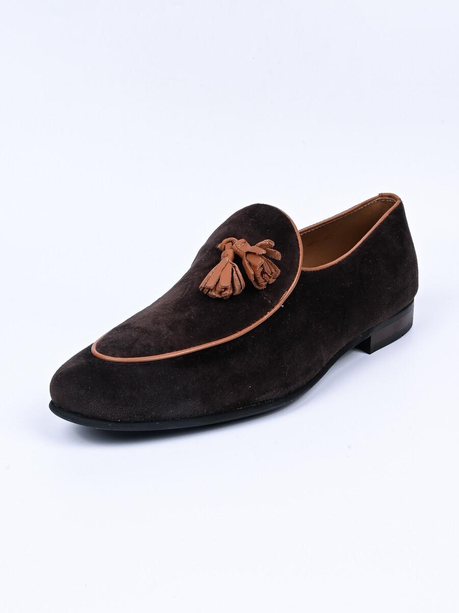 Brown Troy Slip On Shoes For Men