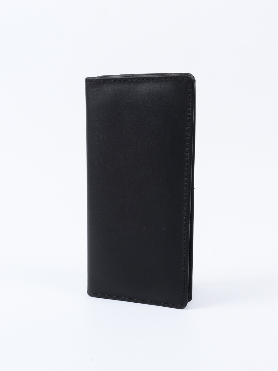 Executive Leather Long Wallet Black