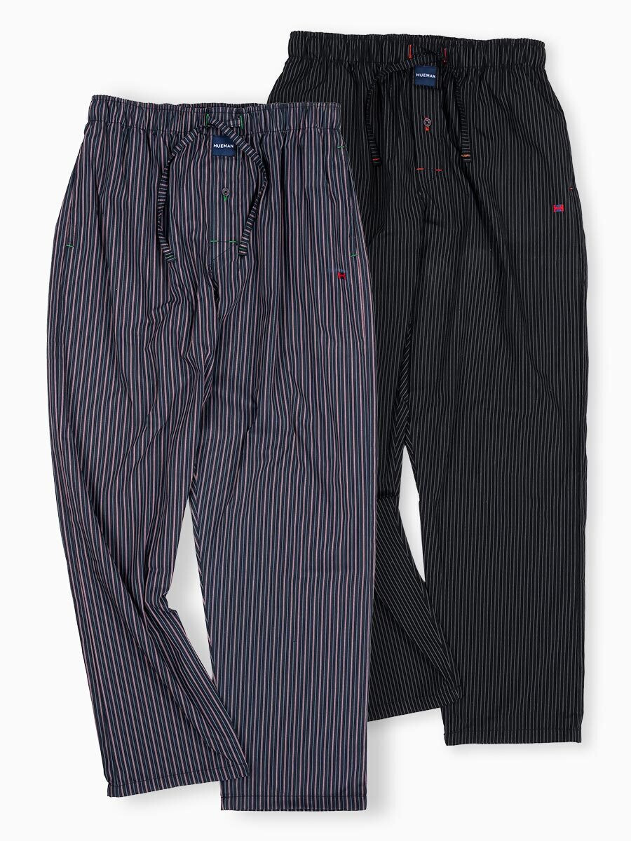 Pack of 2 Grey/Black Relaxed Pajamas