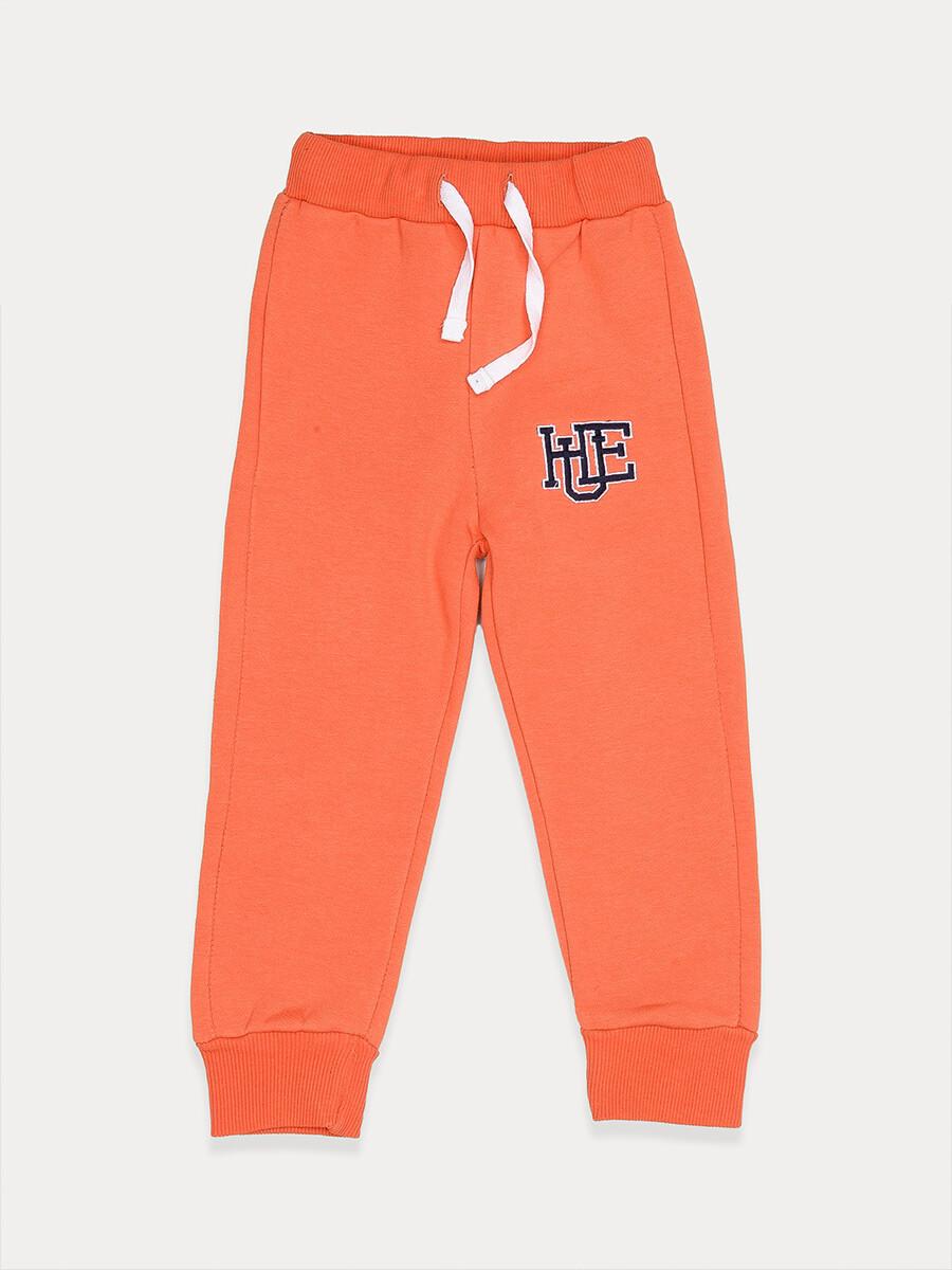 Big Boys Orange Fleece Slim Joggers