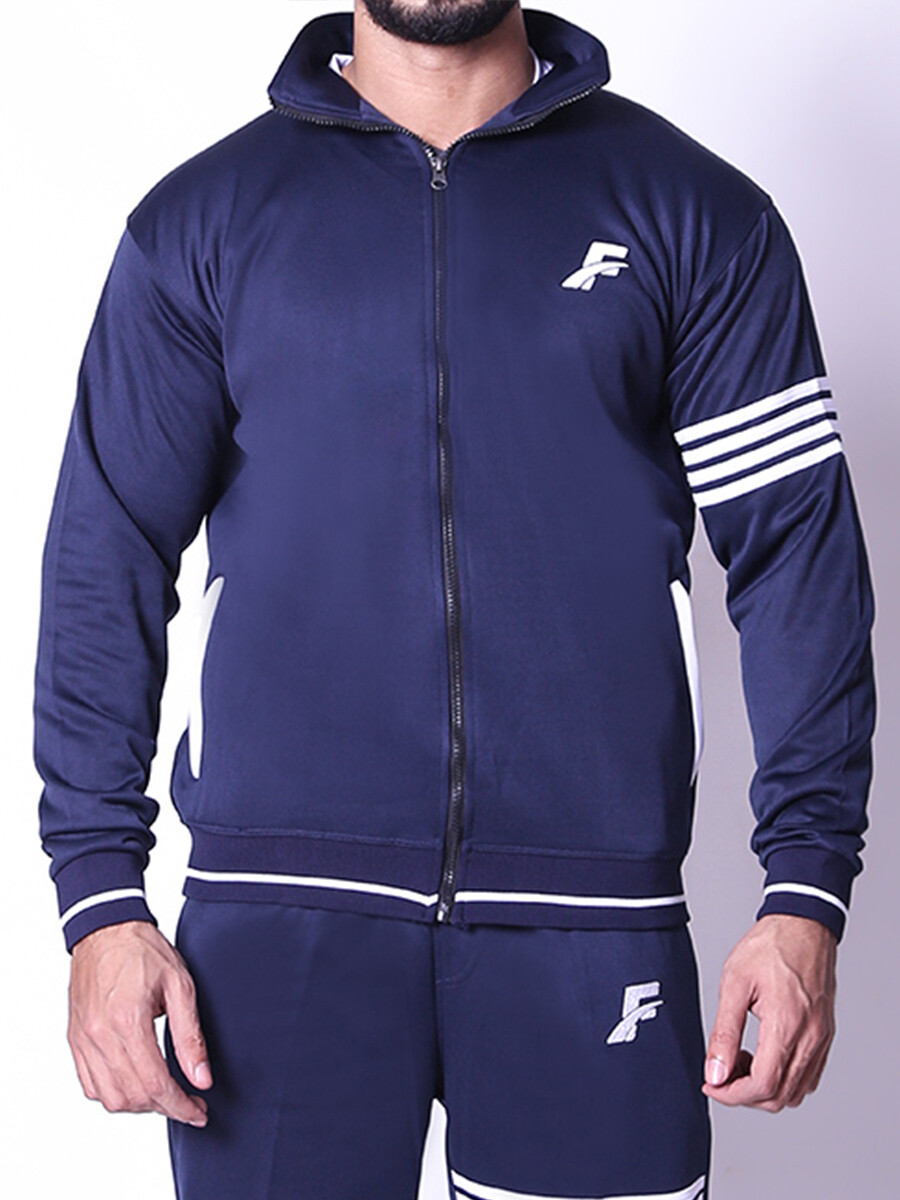 FIREOX Jacket, Navy Blue, White