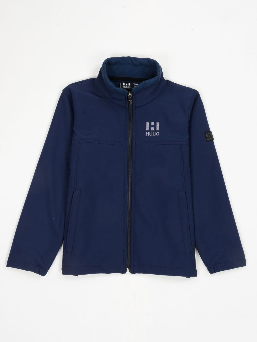 Navy Blue Stand Up Collar Soft Shell Big Boy Jacket