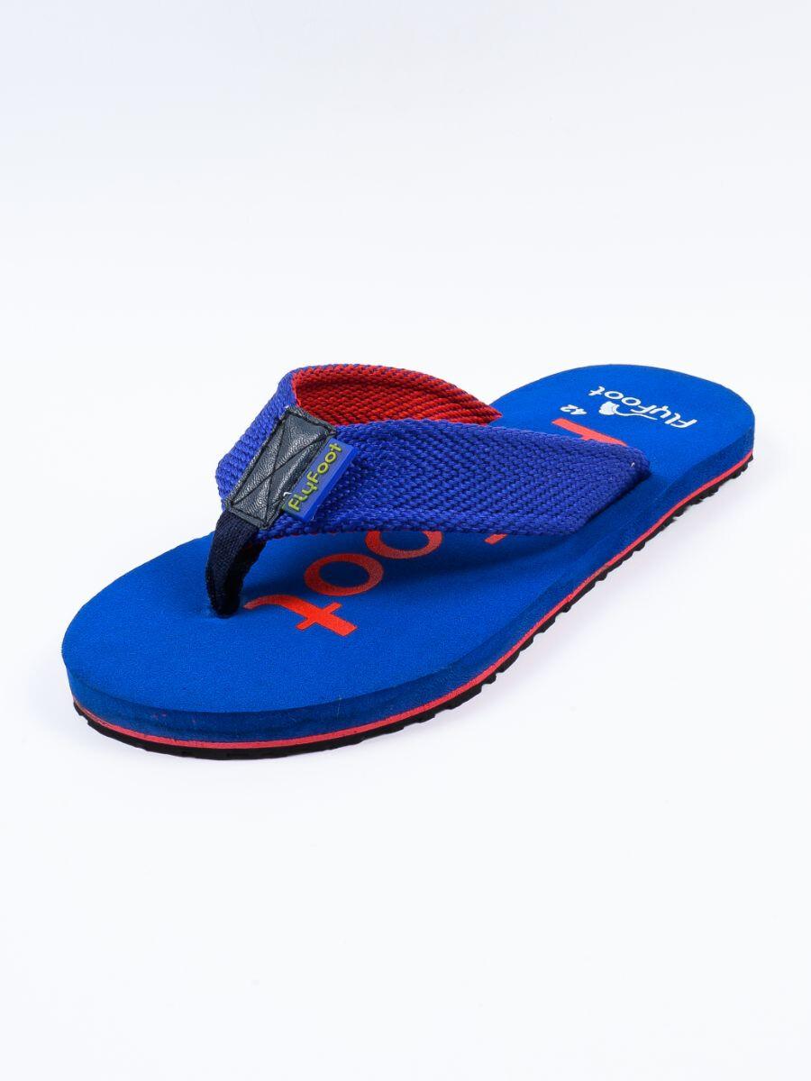 Blue Men Designed Flip-Flop