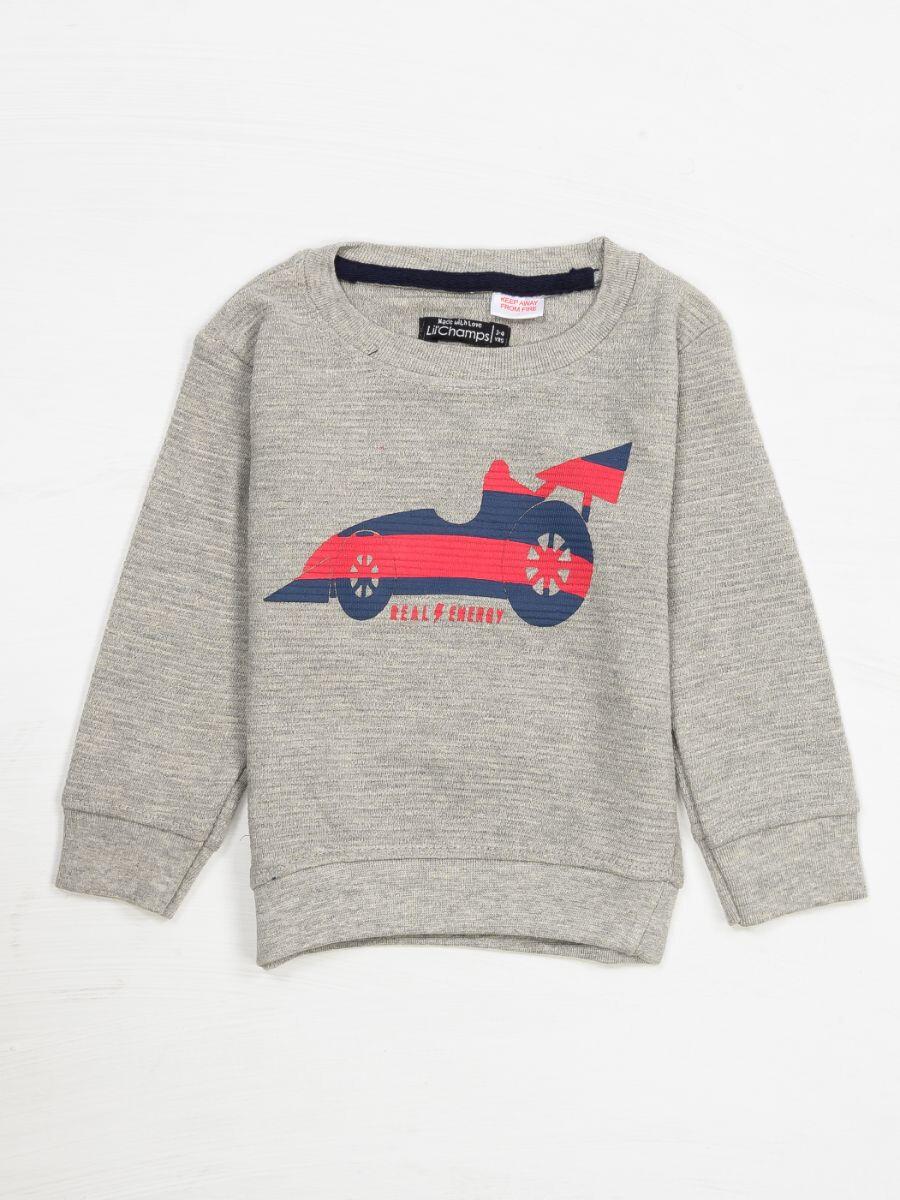 CAR PRINTED SWEAT SHIRT FOR BOYS-10286