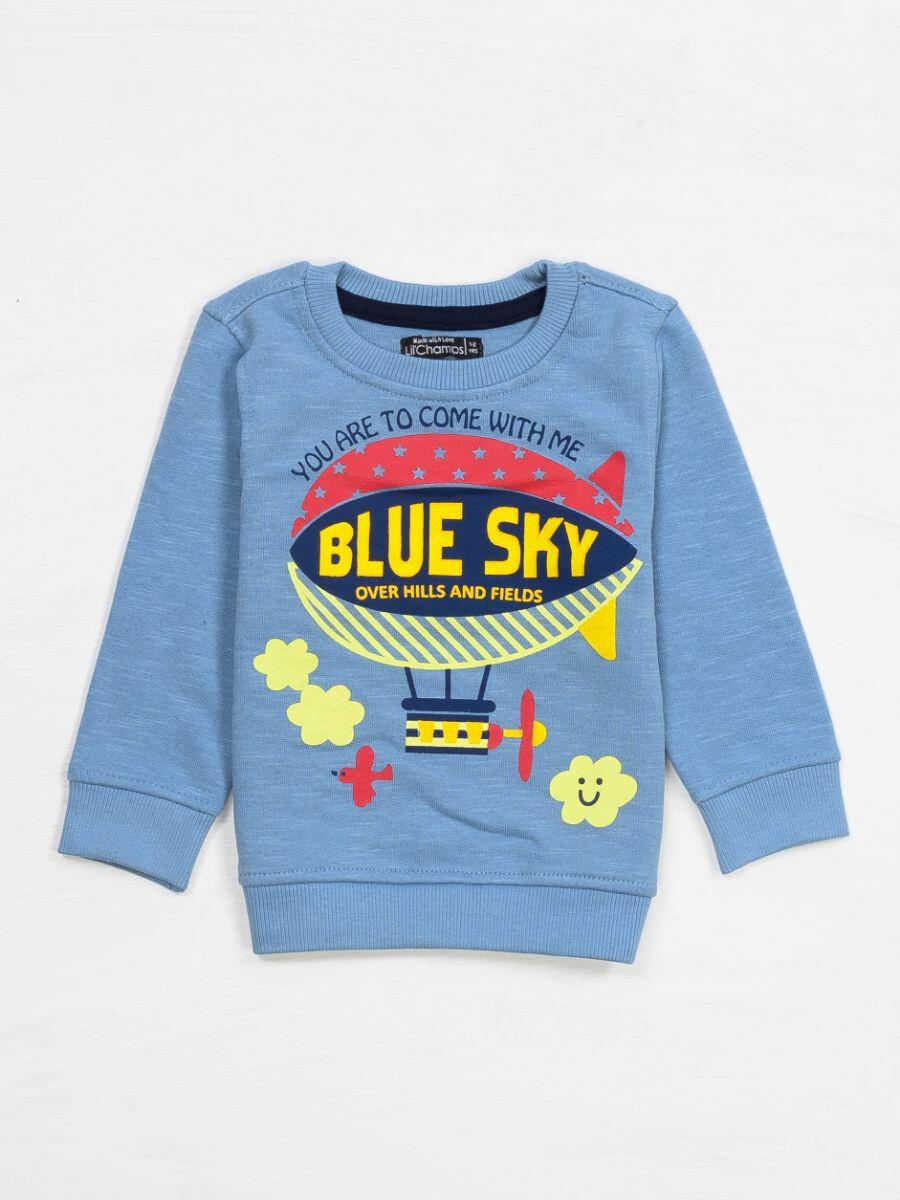 SKY BLUE SWEAT SHIRT FOR BOYS-10294