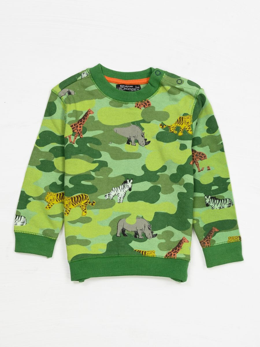 JUNGLE PRINT SWEAT SHIRT FOR BOYS-10290