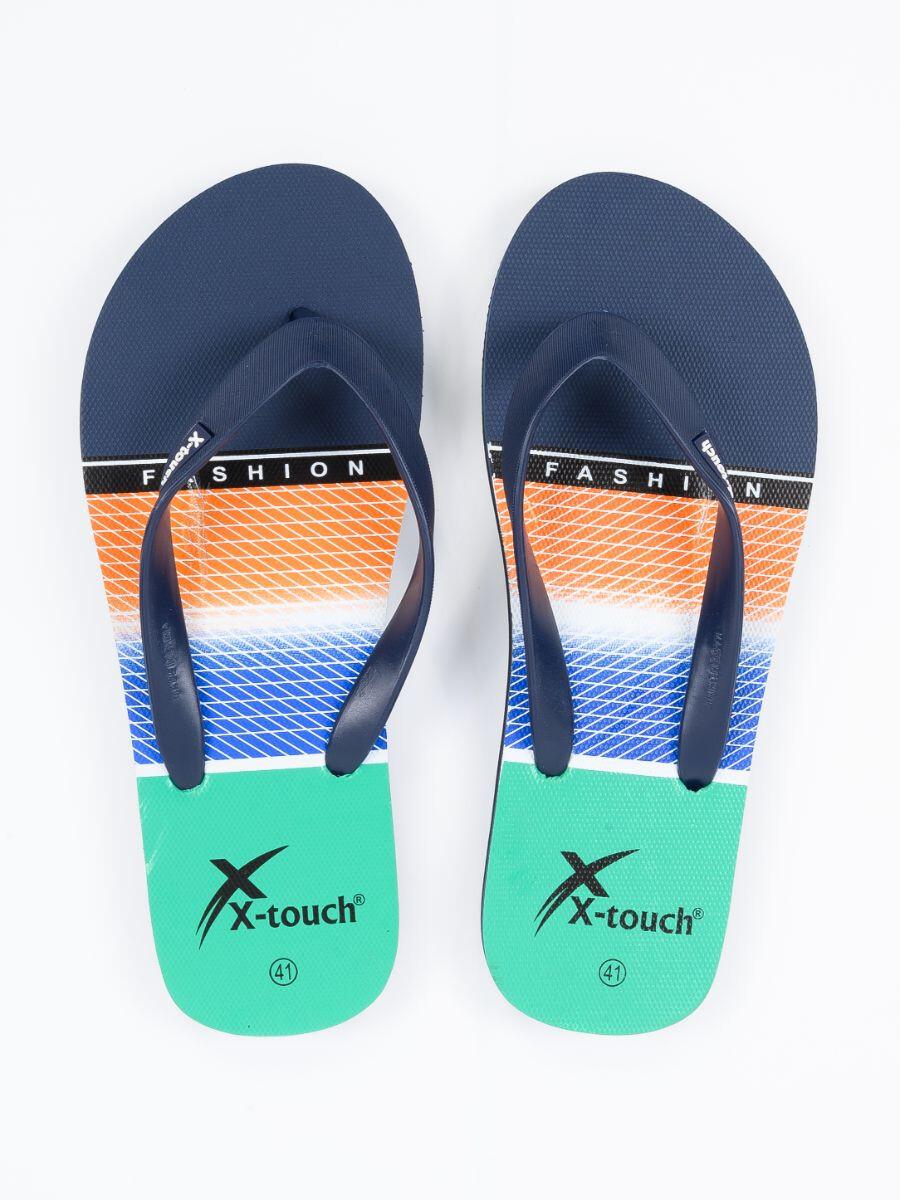 Unisex Navy Blue & Black Comfort Flip Flop