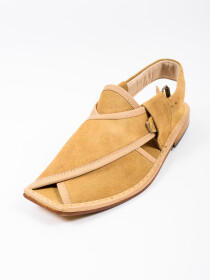 Hand-crafted Suede Leather PeshawariChappal