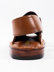 Hand-crafted Brown Peshawari Chappal