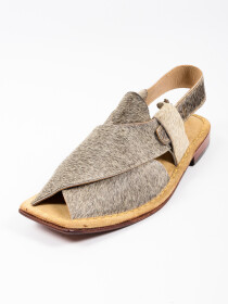 Hand-crafted Grey Suede Leather PeshawariChappal