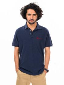 Navy Blue Regular Fit Men's Polo Shirt