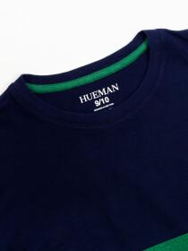 Boys' Green & Navy BlueShort Sleeve T-Shirt Crew Neck