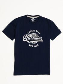 Boys' Navy Blue Short Sleeve T-Shirt Crew Neck