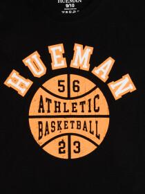 Boys' Black Athletic Basketball Short Sleeve Crew Neck T-Shirt