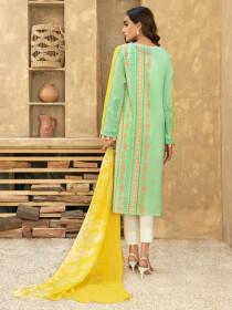 Aqua Printed Textured Lawn Unstitched 2 Piece Suit for Women