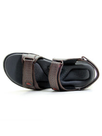 Maroon Genuine Leather Sandals For Men