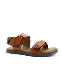 Tan Genuine Leather Sandals For Men