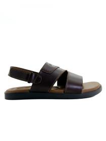 Dark Brown Paragon Genuine Leather Sandals For Men