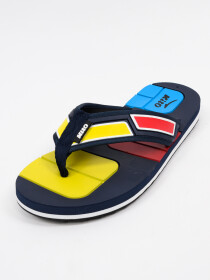 Yellow & Black Kito Flip Flop for Men