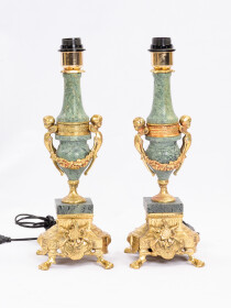Solid Brass & Marble Lamp