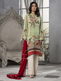 Mint Embroidered Lawn Lawn Unstitched 2 Piece Suit for Women