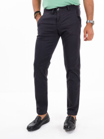 Men'sCharcoal Stretch Flat Front Slim Fit Chino Pant