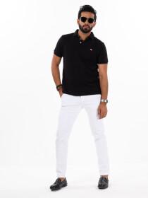 Men'sWhite Stretch Flat Front Slim Fit Chino Pant