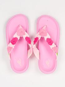 Women Pink Floral Soft &Comfort Flip Flop