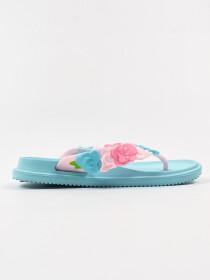 Women Blue Floral Soft &Comfort Flip Flop