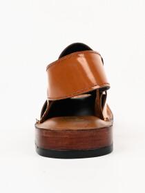 Hand-crafted leather Mustard Peshawari Chappal