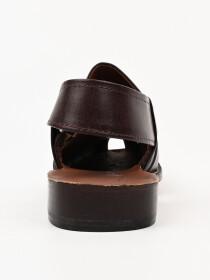 Hand-crafted leather Brown Peshawari Chappal