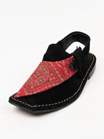 Hand-crafted Suede leather Black Peshawari Chappal