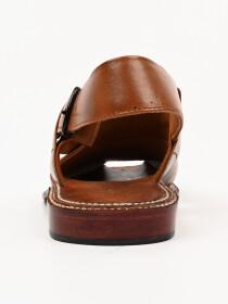 Hand-crafted leather Skin-Brown Peshawari Chappal