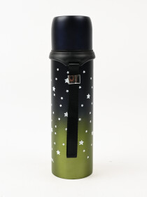 Black & OliveLeakproof  Insulated Stainless Steel Thermos Water Bottle Hot & Cold