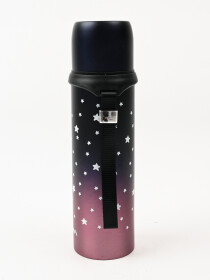 Black & PinkLeakproof  Insulated Stainless Steel Thermos Water Bottle Hot & Cold
